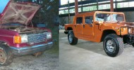 A guy did himself a cool Hummer H1 replica by using Ford F150 as a donor car. Very well executed.