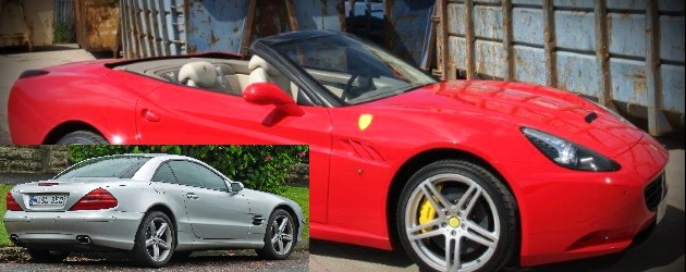 Ferrari California replica based on 2003 Mecedes Benz SL